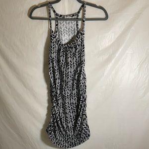 Kismet Black & White Design Dress